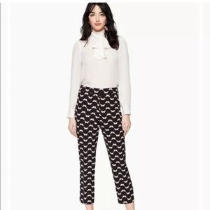 NEW Kate Spade Womens Butterfly Crepe Pants Black